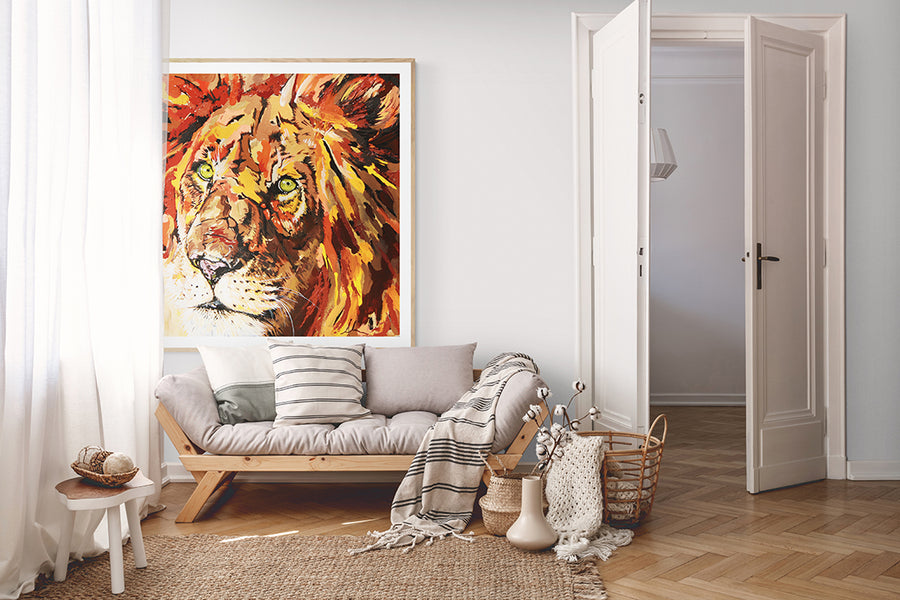 Lion Heart - Canvas and Paper Prints