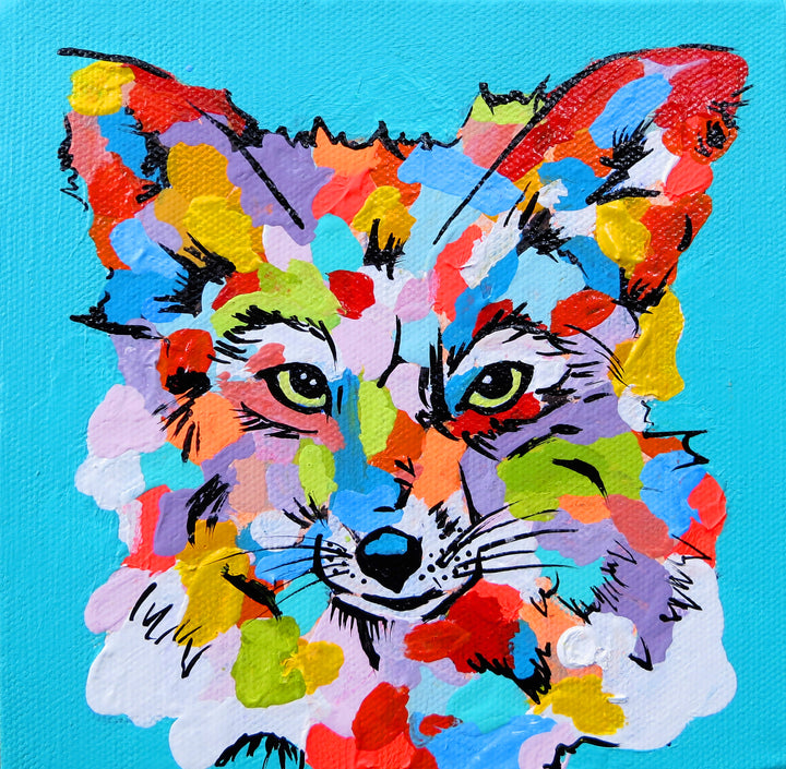 You're So Foxy- Canvas Prints Small, Medium and Large