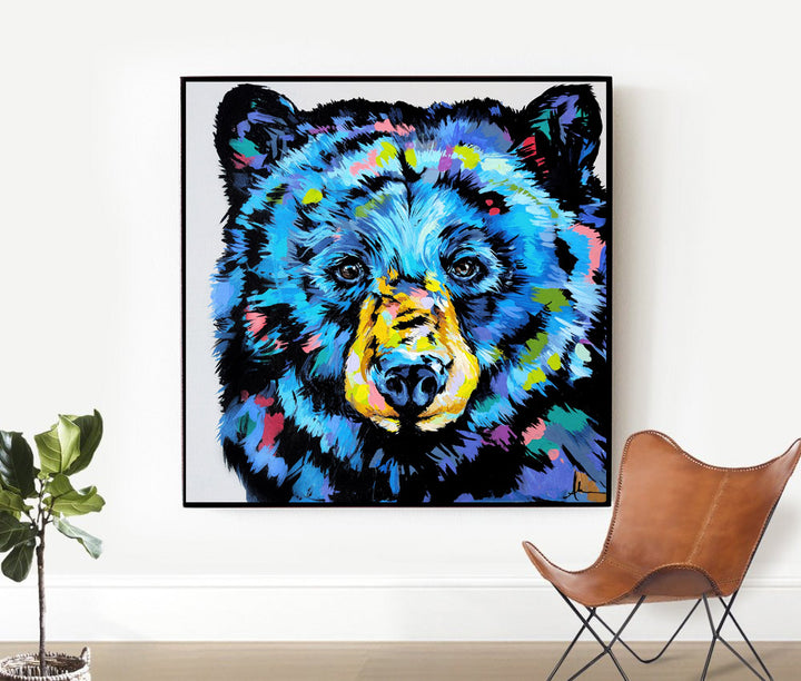 Big Love Black Bear - Canvas and Paper Prints