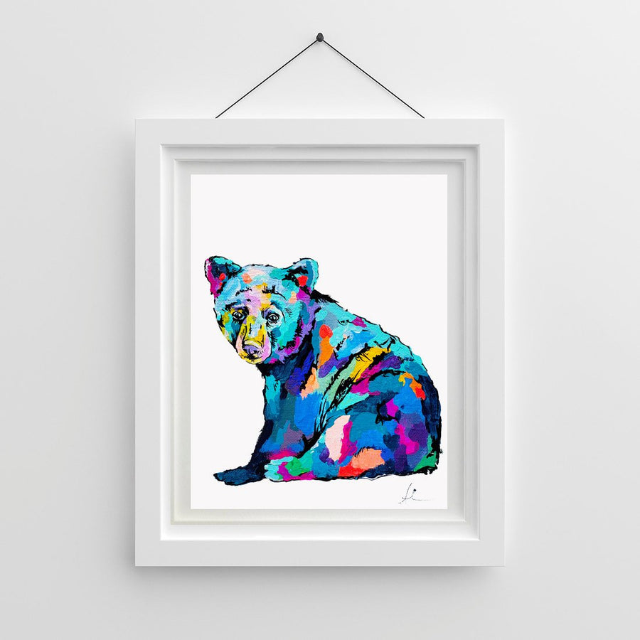 Waiting Black Bear - Canvas And Paper Prints