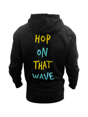 Hop On That Wave Hoodie (Black)