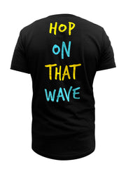 Hop On That Wave Tee (Black)