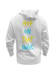 Hop On That Wave Hoodie (White)