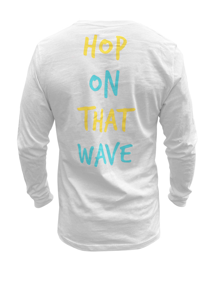 Hop On That Wave LS Tee (White)