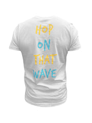 Hop On That Wave Tee (White)