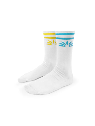 Classic Mismatch Socks (White) - Soloflow Brand Merch