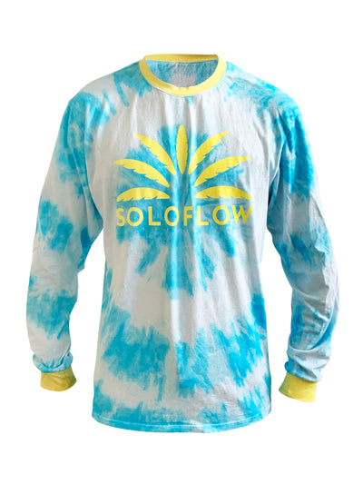 Sun Burst Tee LS (Blue) - Soloflow Brand Merch