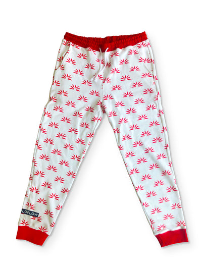 Soloflow Off-Red Patterned Logo Jogger Sweatpants