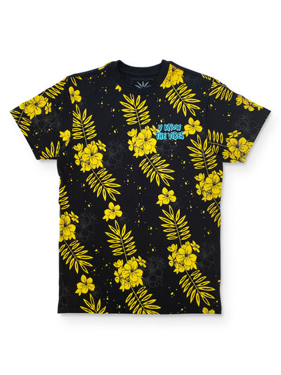 U know the vibes flower tee shirt - SOLOFLOW