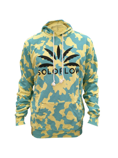 Camoflow Hoodie (Blue/Yellow) - Soloflow Brand Merch