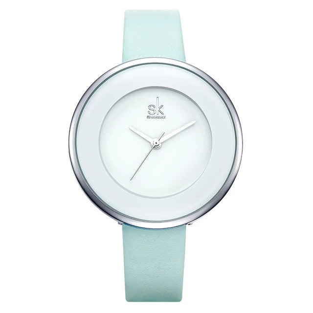 MMOTB White Leather Wristwatch
