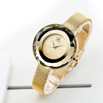 MMOTB Gold Steel Mesh Watch