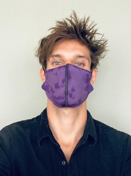 Bleached Purple Fashion Mask