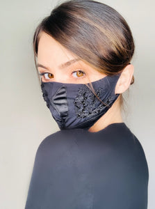 Hand Embroidered Fashion Mask