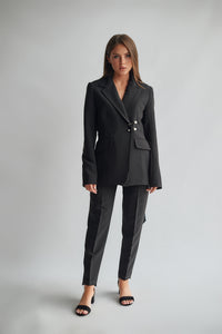 Classic Blazer With Adjustable Belt