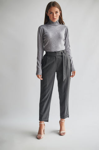 Loose Fit Cigarette Trousers