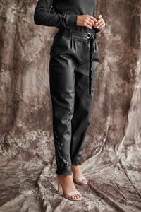 Slouchy Faux Leather Trousers