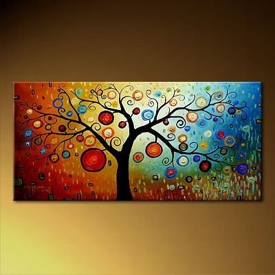 Handmade Art - Modern Abstract Tree Painting