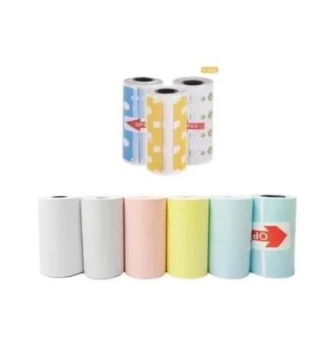 10 Rolls All in one Bundle (4 Thermal paper + 3 Label + 3 Sticker) - Peripage