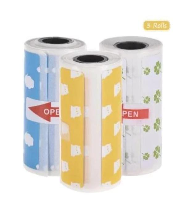 Thermal Label 3 Rolls with self adhesive - Peripage