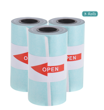 Sticker Thermal Paper 3 Rolls with Self adhesive - Peripage