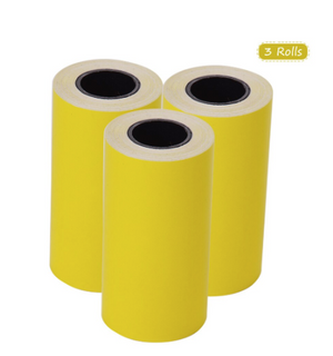 Sticker Thermal Paper 3 Rolls with Self adhesive