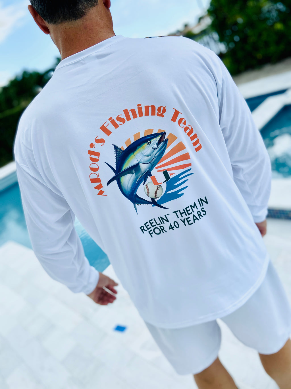 Aruba Adult Ultimate Wicking Long Sleeve Tee Fishing Shirts Dri fit with SPF Sublimate your logo on the front chest , sleeve  or/and back