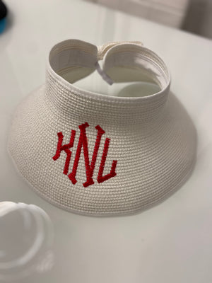 Bow Brim Visor Monogramed Personalized SPF 50