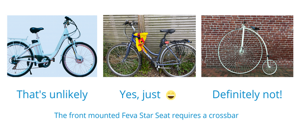 range of bikes that will and will not fit the Feva Star Seat