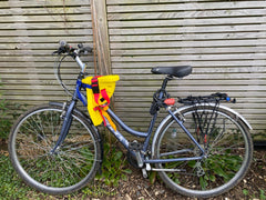 Shopper bicycle with Feva Star Seat fitted