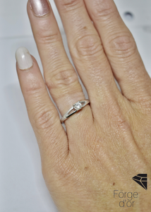 Bague en or Blanc Diamant