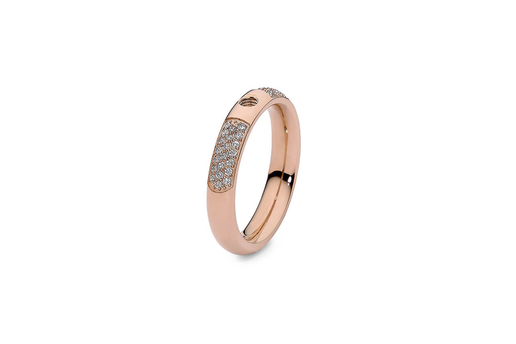 QUDO Basic Ring Small Deluxe Rose