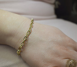Bracelet Fancy or jaune