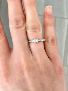 Bague à Diamant Princesse