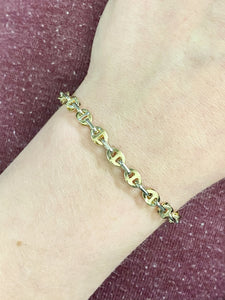 Bracelet Grain de Café en or 2 Tons