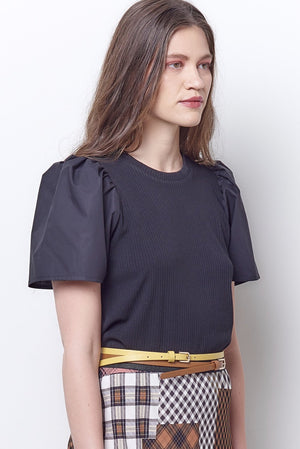 Carlee Puff Sleeve Tee Top