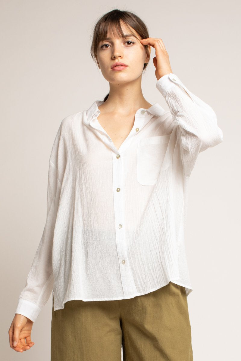 Off White Button-Up Shirt