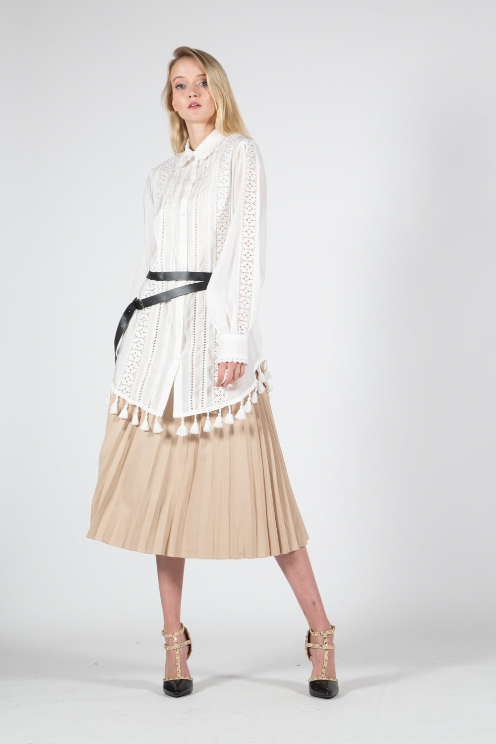 Front Pleat Skirt