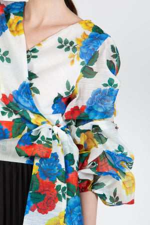 Floral Wrapped Blouse