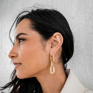 Gage Oversized Link Earrings
