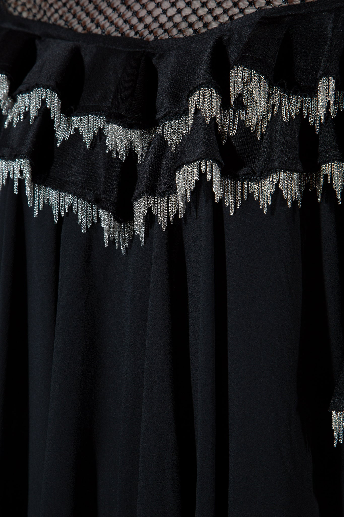 Metal Fringe Tiered Dress