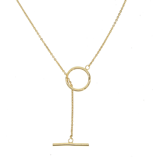 Gold Lariat Chain Necklace