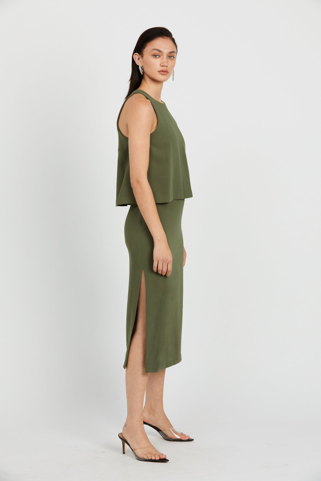 Double Up High Neck Dress