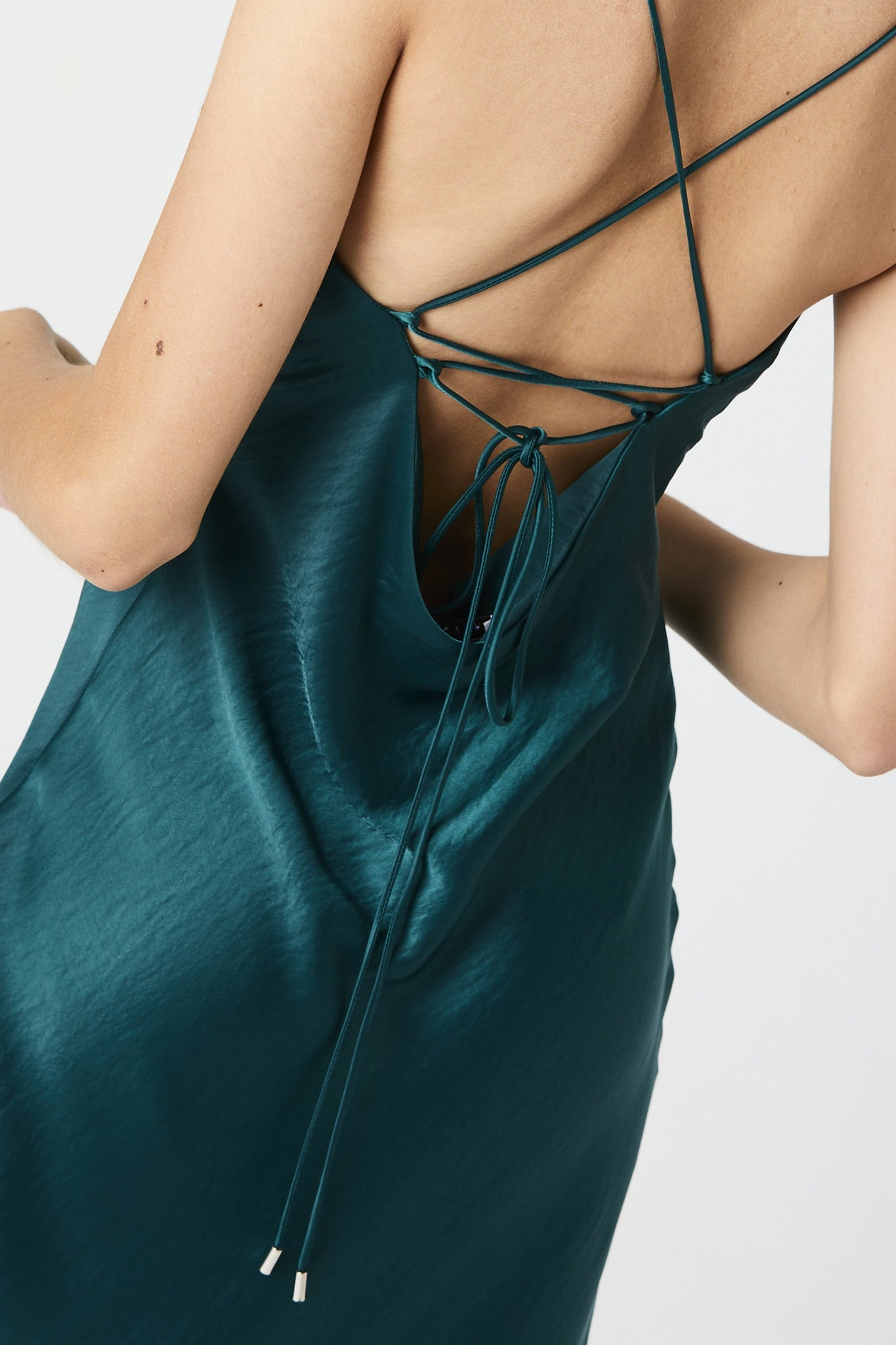 Laced Up Bias Slip Forest