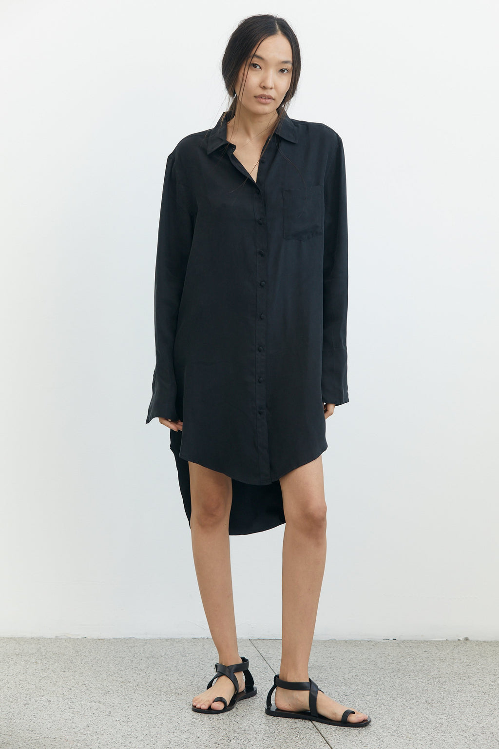 Shadow Play Oversized Shirt Dress