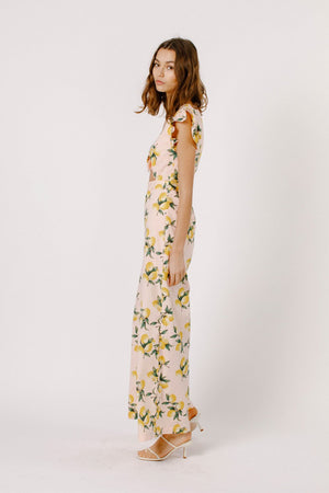 Printed Jumpsuit with Tie