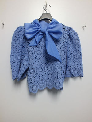 Periwinkle Lace Top