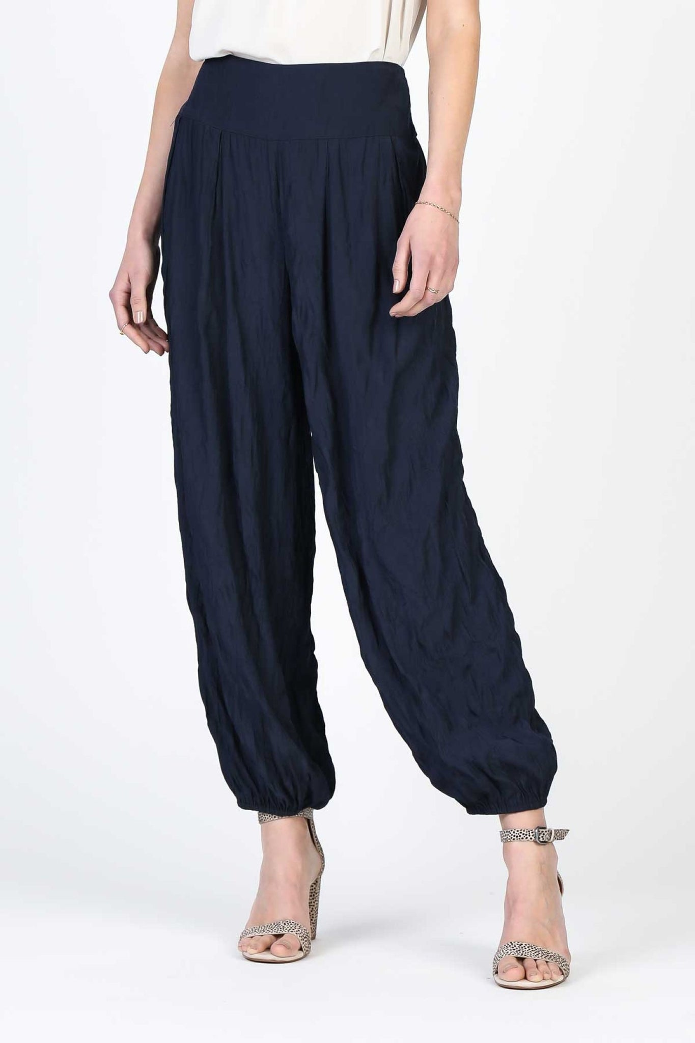 Crinkled Woven Pants