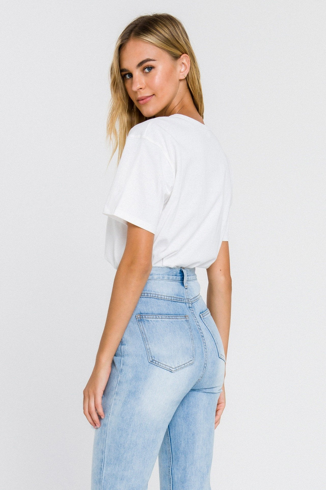 Basic White Short Sleeve Top