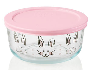 PYREX 4 Cup Pink EASTER Bunny Peeps Blue Floral *HIPPITY HOPPITY or HELLO SPRING